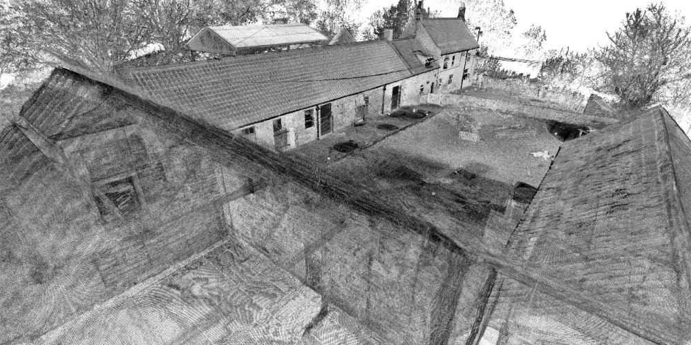 Houses scan-to-point cloud